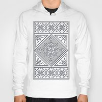 scandinavian Hoodies featuring Scandinavian Patterns I by Fischer Fine Arts