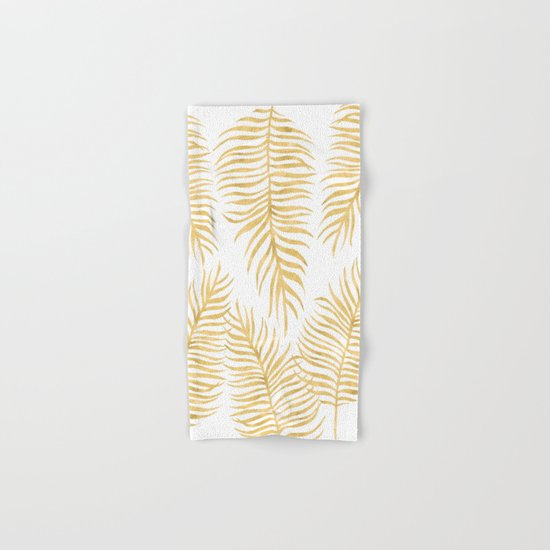 Fern Pattern Gold Hand & Bath Towel
