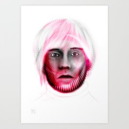 Andy Spiral on white Art Print