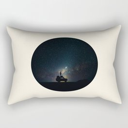 Staring Into The Milky Way Galaxy Over The Australian Outback Rectangular Pillow