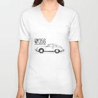 porsche V-neck T-shirts featuring porsche 356 by kartalpaf