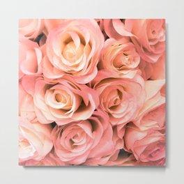 Red Blush Roses Metal Print