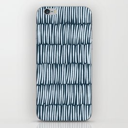 Inspired by Nature | Organic Line Texture Dark Blue Elegant Minimal Simple iPhone Skin