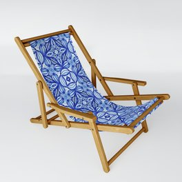 For the Love of Blue - Pattern 372 Sling Chair