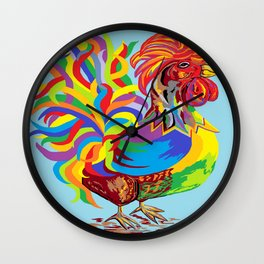 Fiesta Rooster Wall Clock