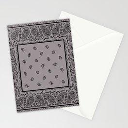 Black and Gray Bandana Stationery Cards