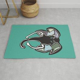 Elephant, redesigned Rug