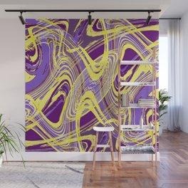 Yellow and Purple Dancing the Tango Wall Mural
