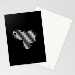 Venezuelan striped map - white Stationery Cards
