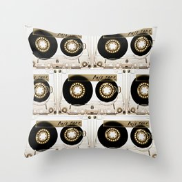 Transparant mix tape Retro Cassette Throw Pillow