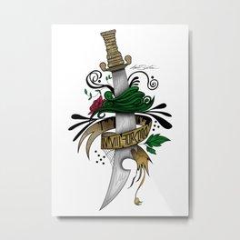 Symbolic Sword Metal Print