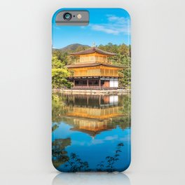 The Golden Pavilion located in a beautiful Japanese Zen Garden in Kyoto. iPhone Case