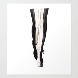 Designer legs 1  Art Print