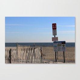Beach Closed Canvas Print