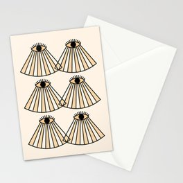 Abstraction_DOUBLE_EYES_VISION_LOVE_POP_ART_0516E Stationery Cards