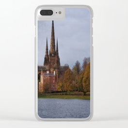 Autumn Lichfield Cathedral Clear iPhone Case
