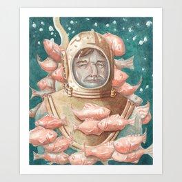 Deep Sea Diver Art Print