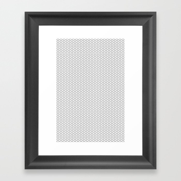 Black and White Basket Weave Shape Pattern - Graphic Design Framed Art Print