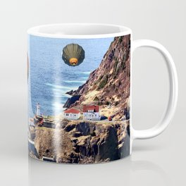 Flying Colorful Hot air Balloons over Newfoundland Coffee Mug