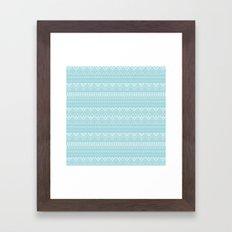 Weave (blue) Framed Art Print