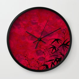 AB Red I Wall Clock