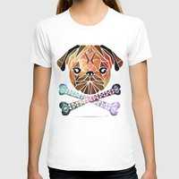 pug T-shirts featuring pug by Manoou