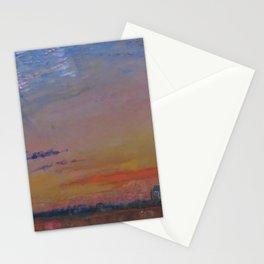 Herringbone Clouds at Sunset, Abbeville and St. Wulfran Cathedral, France by John Ruskin Stationery Cards