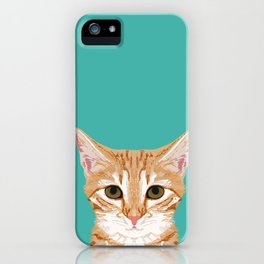 Tabby orange cat head cat breed gifts cute tabby cats must haves iPhone Case