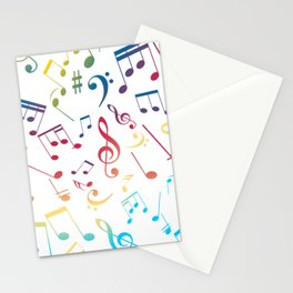 Musical Notes 5 Stationery Cards