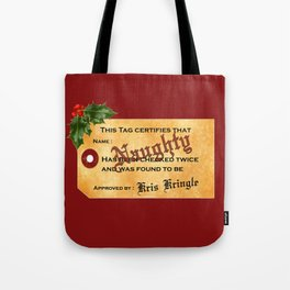 Santa Naughty List Tote Bag