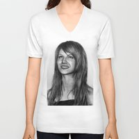 hayley williams V-neck T-shirts featuring Hayley Williams by ''Befne''