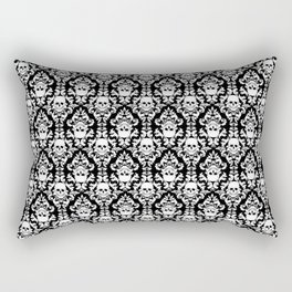 Skull Damask Rectangular Pillow