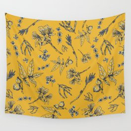 Botanical Floral Wall Tapestry