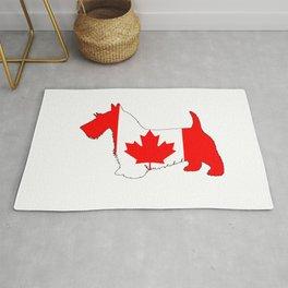 """Scottish Terrier """"Canada"""" Rug"""