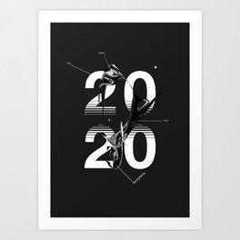 2020 :: grayscale anomaly Art Print