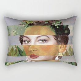 Frida's Self Portrait with Hand Earrings & Ava Gardner Rectangular Pillow
