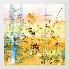 flowers at the beach Canvas Print
