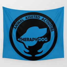 Animal Assisted Activities  - THERAPY DOG logo dog help Wall Tapestry