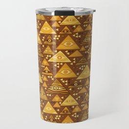 Klimt Triangles Travel Mug