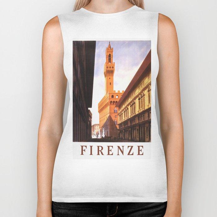 Vintage Florence Italy Travel Biker Tank