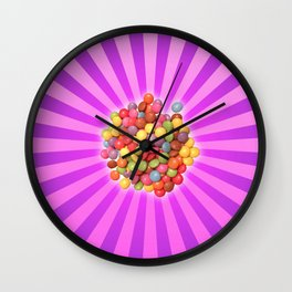 colourful smarties Wall Clock