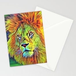 AnimalColor_Lion_009_by_JAMColors Stationery Cards