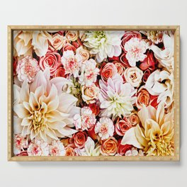 Floral Feature Serving Tray
