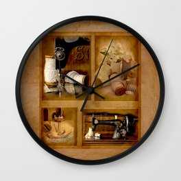 Vintage sewing machine Simplex Wall Clock