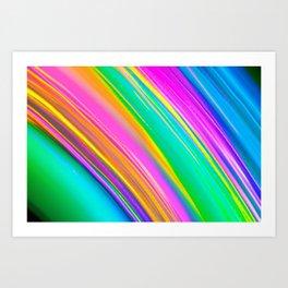 mint saturn Art Print