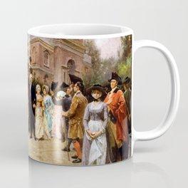 George Washington Arriving At Christ Church Coffee Mug