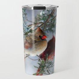 Shining on Her Own (Cardinal) Travel Mug
