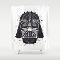 darth vader Shower Curtains featuring darth vader by yoaz