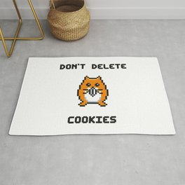 Don't Delete Cookies Rug