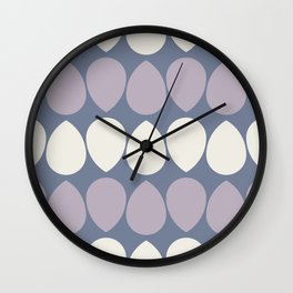 Wilma in Lilac and Ivory Wall Clock